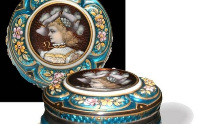French Silver and Guilloche Enamel Box