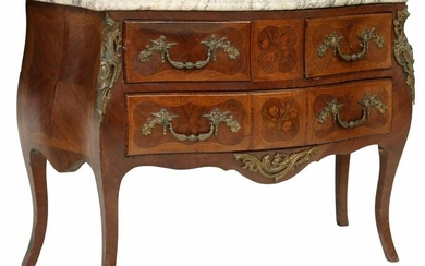 ITALIAN LOUIS XV STYLE MARBLE-TOP COMMODE