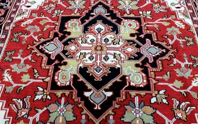 Indo- Persian Heriz, 9X12 Mint New Hand Knotted Super