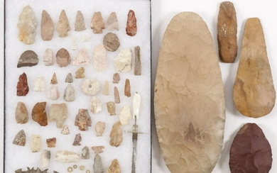 LARGE GROUP STONE ARTIFACTS
