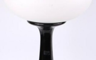 MID CENTURY MODERN LAMP WITH FROSTED GLASS DOME