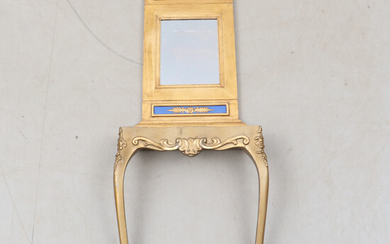 MIRROR, as well as console, late Gustavian style, 1800s / 1900s.