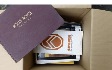 Motor Car Brochures A large quantity of assorted, mainly 195...
