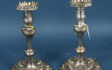 Pair of Tiffany & Co. Makers Silver Plate Candlesticks