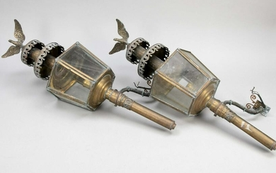 Pair of carriage lamps, late 19th