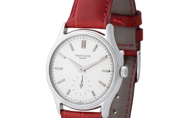 Patek Philippe. Fine and Limited Edition Calatrava-Style Wristwatch in Steel, Reference 3923, Made Upon Special Request for Japanese Retailer Isshin Dokei Co. Ltd., Tokyo and Extract from Archives