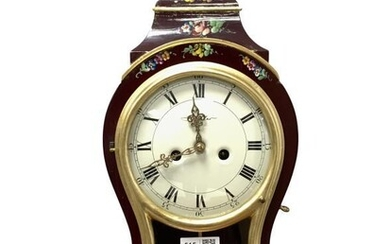 Rococo style eight day mantle clock of cartouche form,...