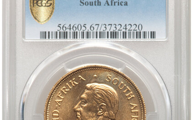 South Africa: , Republic gold Krugerrand 1968 MS67 PCGS,...
