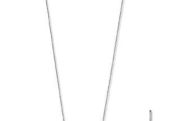TIFFANY: DIAMOND HEART PENDANT NECKLACE AND EARRING SUITE