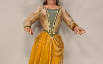 Tall Antique Statue of a Woman