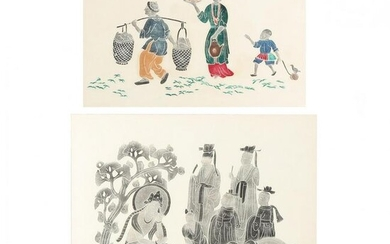 Two Chinese Temple Rubbings