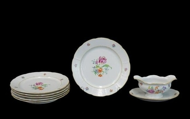 (7) Antique Meissen Porcelain Tableware
