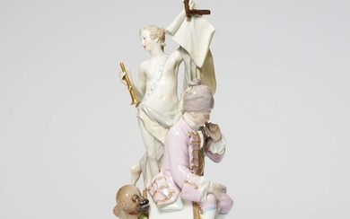 A Berlin KPM porcelain allegory of architecture
