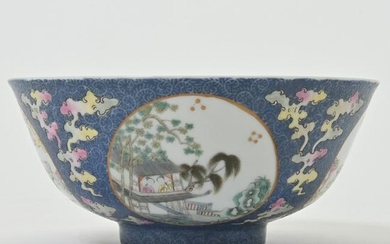 A Doucai and Blue and White Porcelain Bowl.