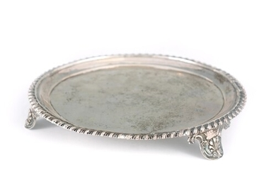 A GEORGE III SCOTTISH SILVER SALVER having a raised moulded ...