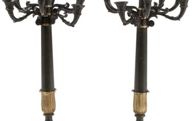 A Pair of French Empire-Style Patinated and Gilt