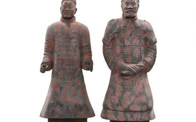 A Pair of Lifesize Chinese Warriors