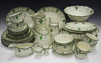 A Royal Doulton Countess pattern part service, comprising tureen and two covers, five dinner plates
