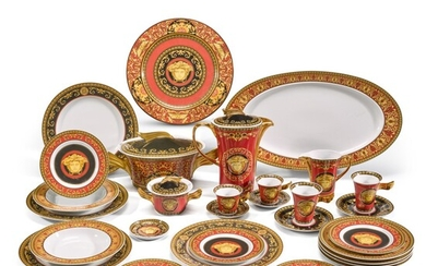 A Versace 'Medusa' part dinner and coffee service, Rosenthal, 20th century