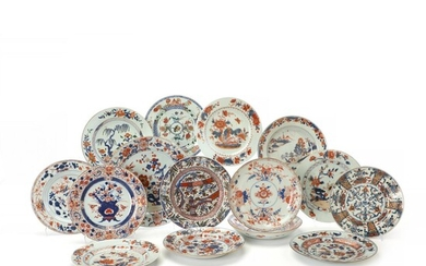 A collection of 14 various Chinese Imari porcelain plates and a circuar dish. Qing 18th c. (14+1) – Bruun Rasmussen Auctioneers of Fine Art