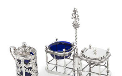 A collection of 19th century French silver