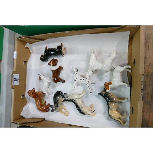 A collection of Beswick small dog models (10)