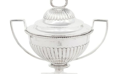 An Edwardian Silver Covered Bowl or Sauce Tureen