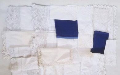 Assorted linen to include pillowcases, sheets, napkins, tabl...