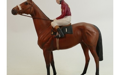 Beswick Connoisseur model of Red Rum Brian Fletcher up