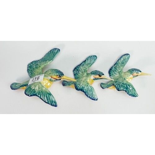 Beswick set of wall plaques Kingfishers 729: comprising 729-...