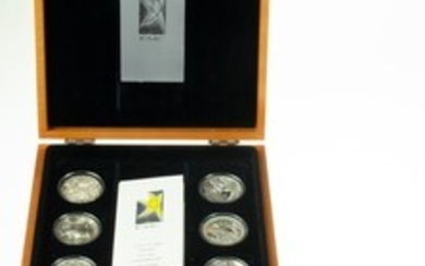 Collection EMC medals, 10 heavy sterling silver medals of European...