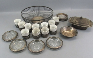 Collection of Old\Vintage Silver Coated Serving Dishes