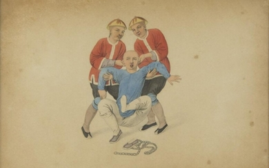 ENGLISH SCHOOL 19TH CENTURY. CHINESE TORTURES. TWENTY POLYCHROME ENGRAVINGS ON PAPER. ENGRAVER DADLEY LONDON. DATED 1801.