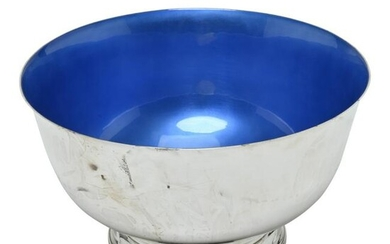 Enameled Towle Sterling Silver Bowl.