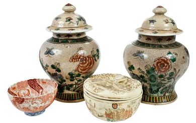 Four Pieces of Chinese and Japanese Ceramics