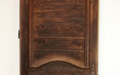 French oak raised panel and studded door