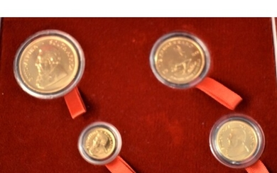 Gold Krugerrand Boxed set of proof coins, Cert. No 115. All ...