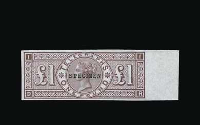 Great Britain - Telegraphs : (SG (T17s)) 1876 £1, DR, IMPERF...