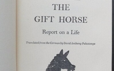 Hildegard Knef, Gift Horse Report on a Life 1stEd. 1971