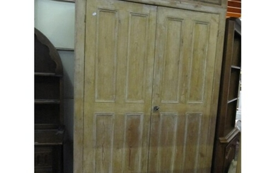 Large Stripped Pine Converted School Cupboard into Hall Robe...