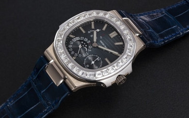 PATEK PHILIPPE, REF. 5722G-001, A GOLD NAUTILUS MOON-PHASE WITH CALENDAR