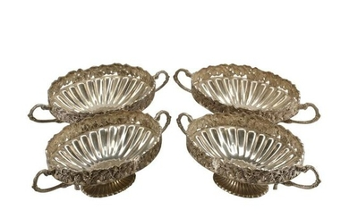 Set of Four Continental Silver Plated Bowls.