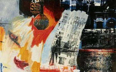 Signed Lithograph Attributed to RAUSCHENBERG