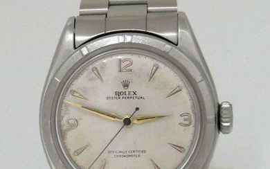 VINTAGE ROLEX OYSTER PERPETUAL BUBBLE BACK STAINLESS
