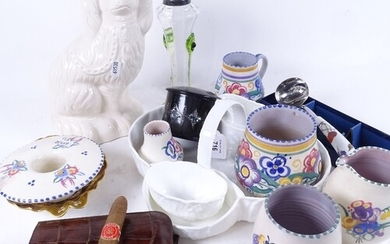 Various ceramics, including Royal Crown Derby dish, Poole Po...