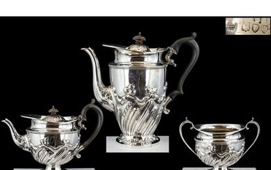 Victorian Period Superb Quality Sterling Silver ( 3 ) Piece ...