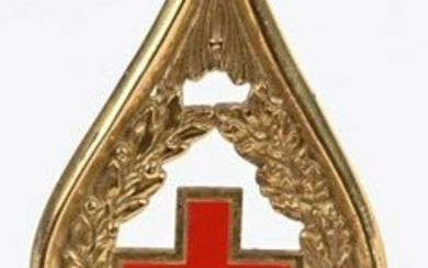 WWI IMPERIAL GERMAN RED CROSS FLAG POLE TOP FINIAL