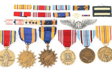 WWII US AAF 380th BOMB GROUP AIRCREW MEDAL ARCHIVE