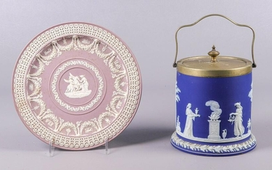 Wedgwood Biscuit Jar and Plate