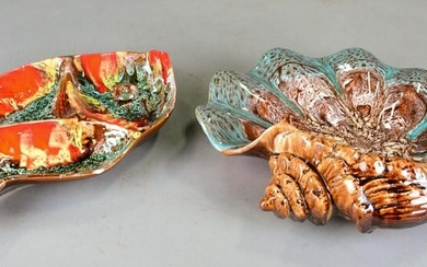 2pcs French Pottery - Vallauris